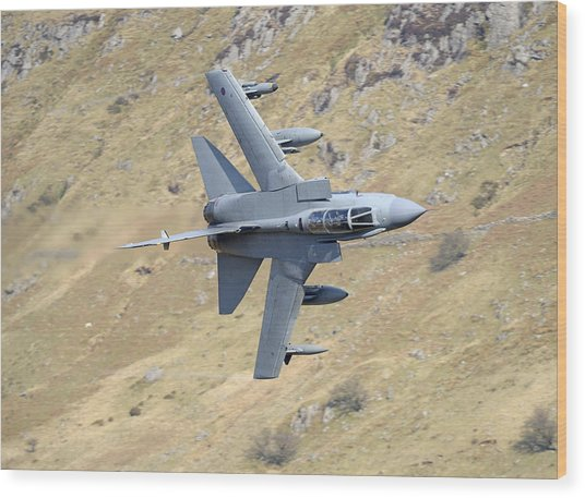 Lowflying Tornado In The Welsh Hills 01 Wood Print by Barry Culling
