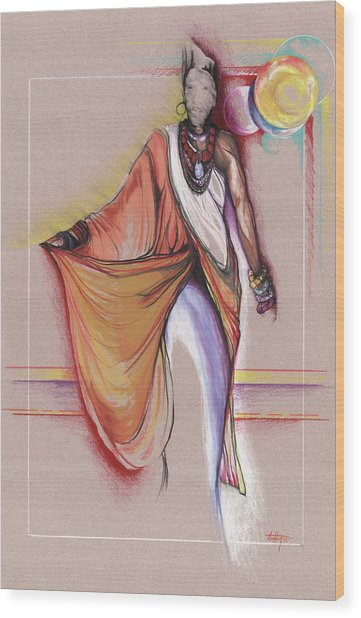 Lpr Black Woman Wood Print