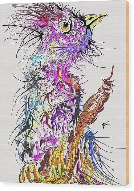Lsd Bird 2 Wood Print