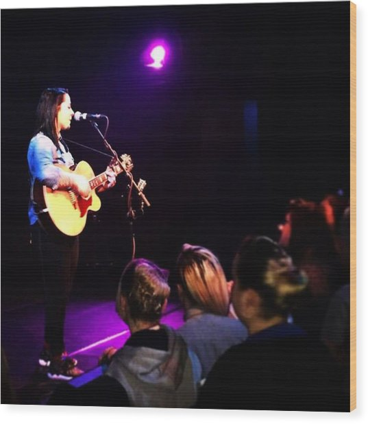 @lspraggan #hometour #home #livemusic Wood Print by Natalie Anne