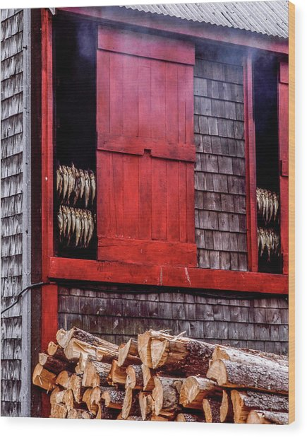 Lubec Smokehouse Wood Print