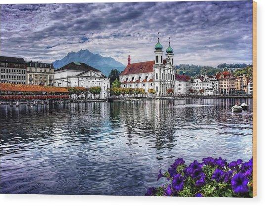 Lucerne In Switzerland  Wood Print