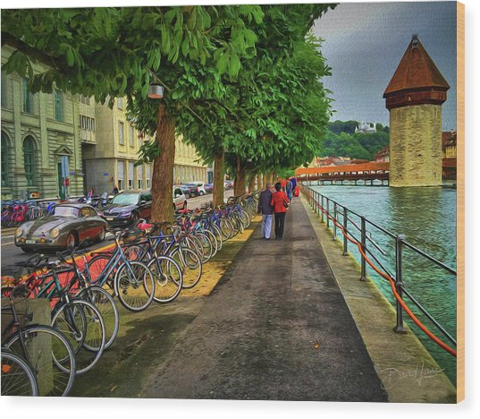 Wood Print featuring the photograph Lucerne Strolling by David A Lane