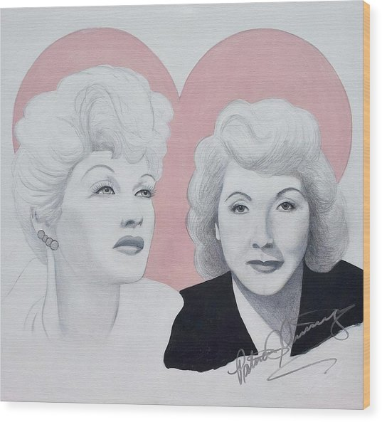 Lucille And Vivian Wood Print