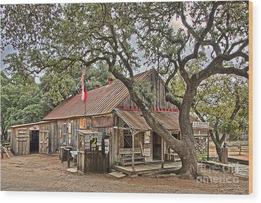 Luckenbach Post Office And General Store_1 Wood Print