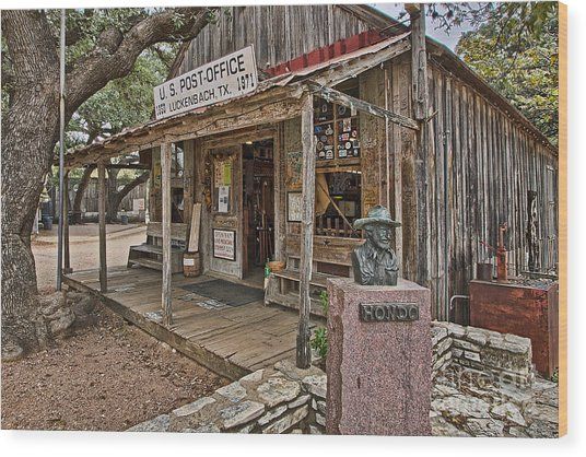 Luckenbach Post Office And General Store_2 Wood Print