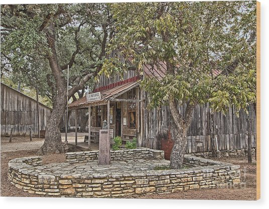 Luckenbach Post Office And General Store_3 Wood Print