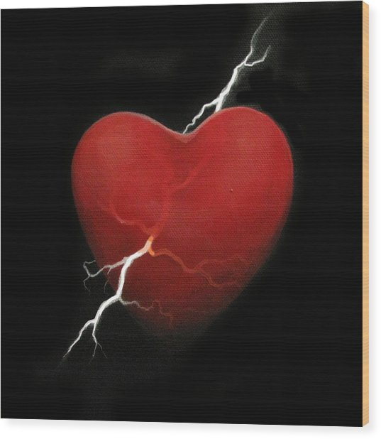 Lucky Strike Wood Print by Boris Koodrin