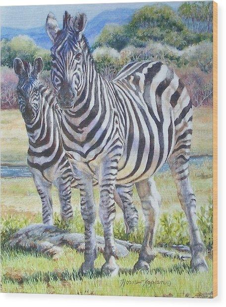 Lucky Stripes Wood Print
