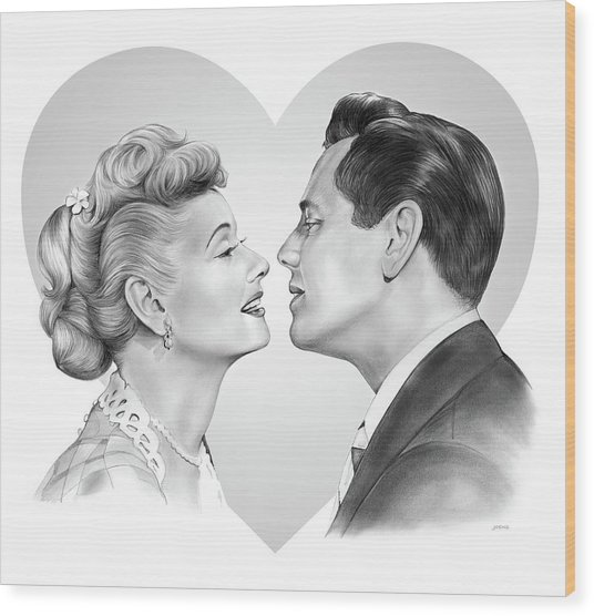 Lucy And Desi Wood Print