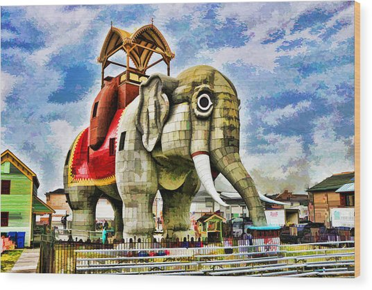 Lucy The Elephant 2 Wood Print