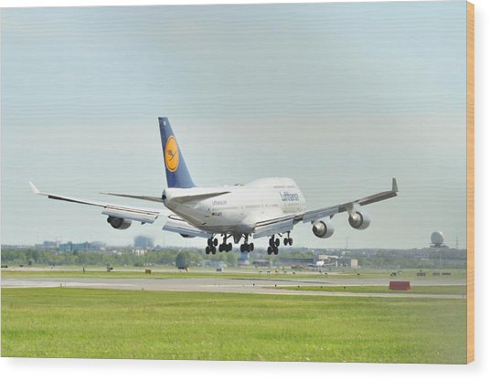 Lufthansa Airlines 747 Wood Print