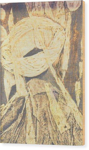 Lui 2002 Wood Print by Halima Echaoui
