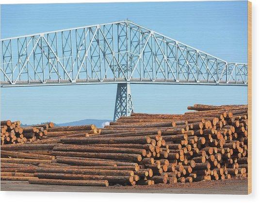 Lumber Mill In Rainier Oregon Wood Print