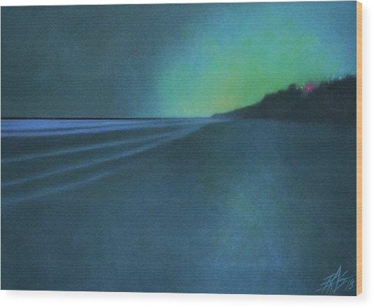 Luminescence At Torrey Pines II Wood Print by Robin Street-Morris