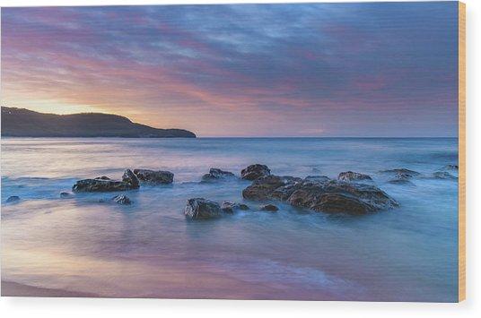 Luminescent Sunrise Seascape Wood Print