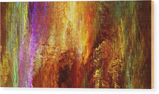 Wood Print featuring the painting Luminous - Abstract Art by Jaison Cianelli