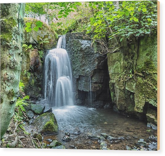 Lumsdale Falls Wood Print