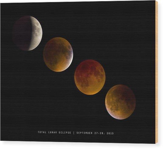 Lunar Eclipse 2015 Wood Print