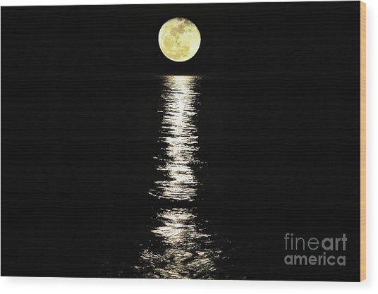 Lunar Lane Wood Print