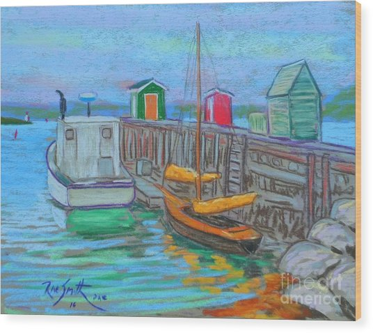 Lunenburg Waterfront  Wood Print