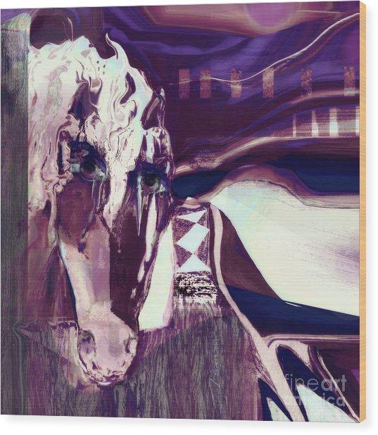 Lungta Windhorse No 5 Wood Print
