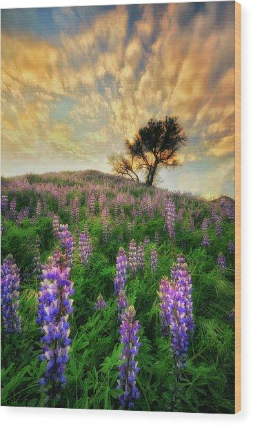 Lupine On Lupine Wood Print