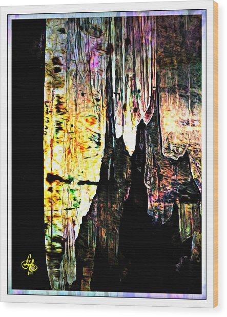 Luray Cavern Abstract 2 Wood Print