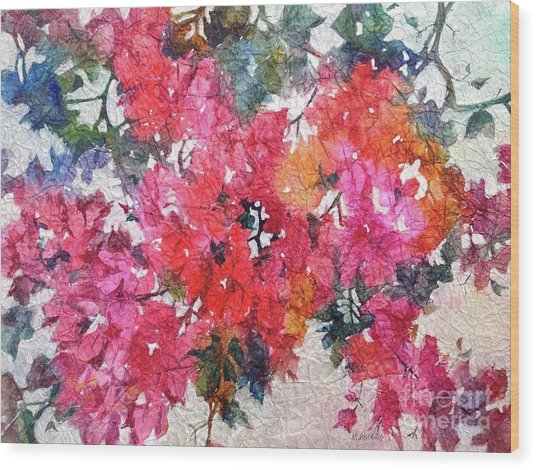 Luscious Bougainvillea Wood Print