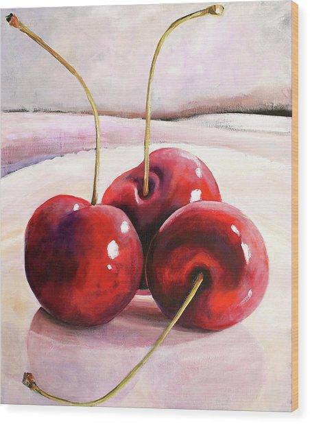 Luscious Cherries Wood Print