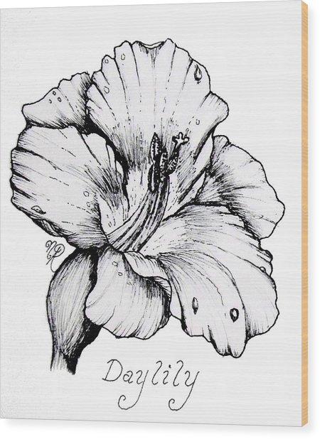 Luscious Daylily  Wood Print