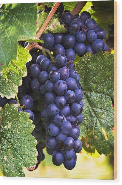 Luscious Grape Cluster Wood Print