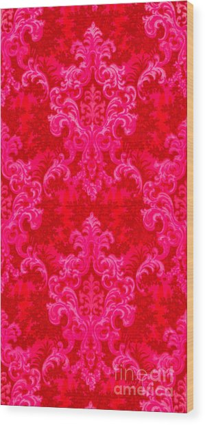 Luscious Neo Baroque Hot Pink Bubblegum Damask Wood Print