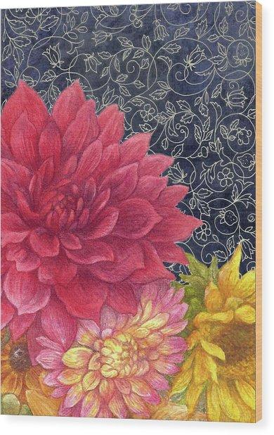 Lush Fall Botanical Wood Print