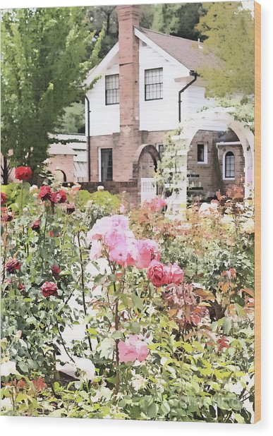 Luther Burbank Home And Gardens Wood Print