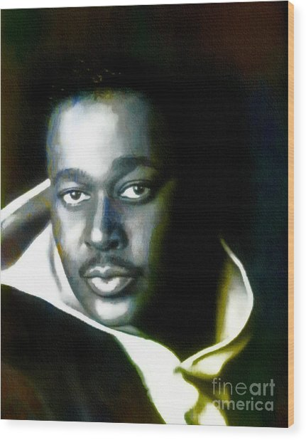 Luther Vandross - Singer  Wood Print