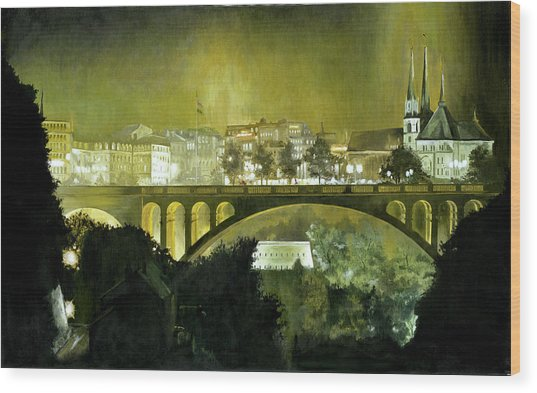 Luxembourg Wood Print