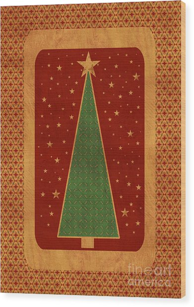 Luxurious Christmas Card Wood Print