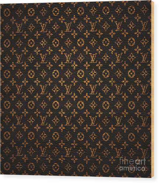 Lv Pattern Wood Print