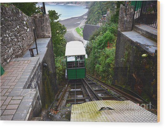Lynton And Lynmouth Cliff Railway Wood Print