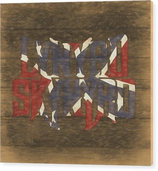 Lynyrd Skynyrd Barn Door Wood Print