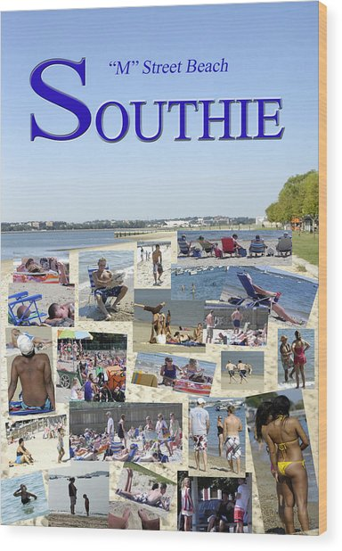 M Street Beach  Southie Wood Print