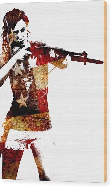M1 Carbine And Bayonet Wood Print