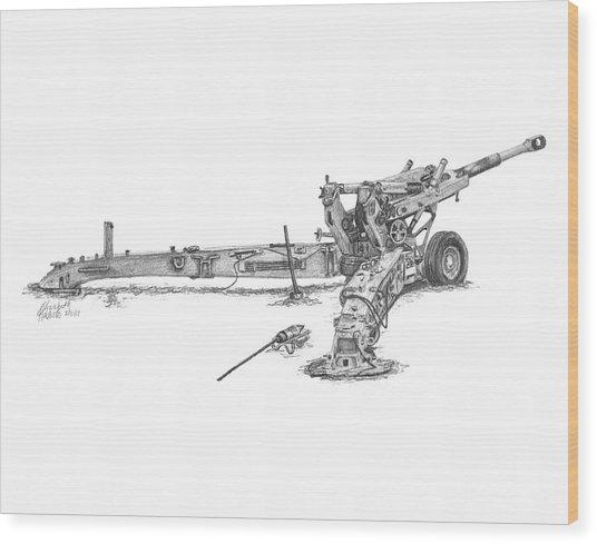 M198 Howitzer - Standard Size Prints Wood Print