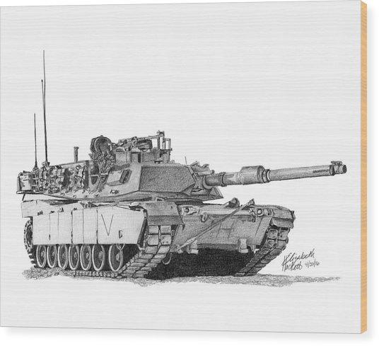M1a1 C Company Commander Tank Wood Print