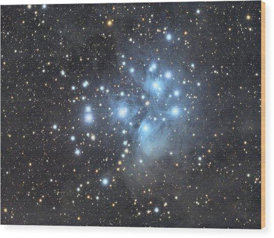 M45 - Pleiades Wood Print