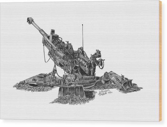 M777a1 Howitzer Wood Print