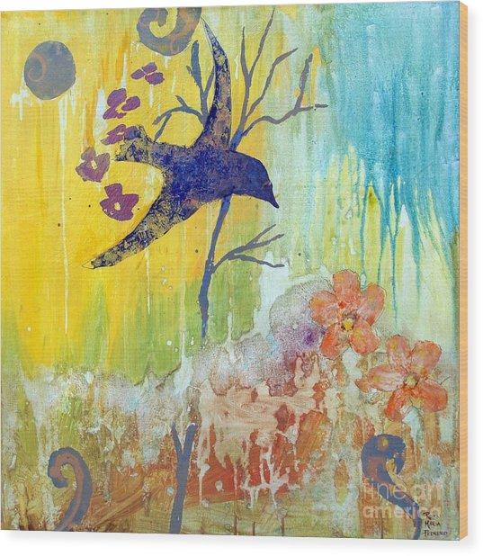 Ma Doh Bird Soars Wood Print