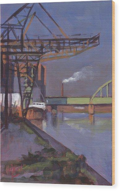 Maastricht Industry Wood Print