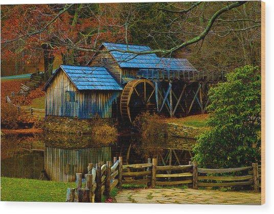 Mabry Mill II Wood Print